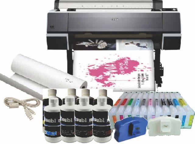 Epson Stylus Pro 9890 44 Inch Inkjet Printer Sublimation Equipment With  Bulk System No RIP
