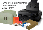 "Epson SureColor® P800 17"" Wide Format Inkjet Printer CTP Computer To Plate System Chemical Free, Metal"