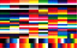Graduated Gradient Rainbow Multicolor Blend Screen Printed All Colors Chart