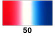 Graduated Gradient Rainbow Vinyl Horizontal Red To White To Blue 50