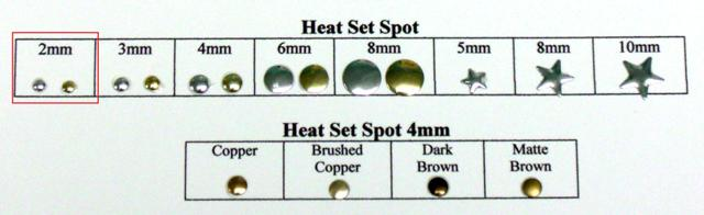 Rhinestone Heat Set Spot Nail Head 02MM Korean Hot Fix