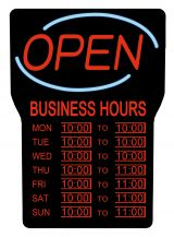 Royal Sovereign LED Open Sign With Hours RSB-1342E