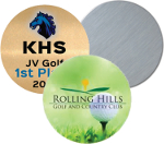 "Sublimation Blank Aluminum Trophy Disk White 1"" Round"
