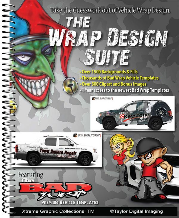 Taylor digital imaging the wrap design suite for Car wrap design templates