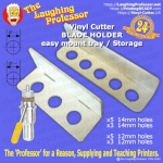 The Laughing Professor Vinyl Cutter Blade Holder Storage Mounting Tray