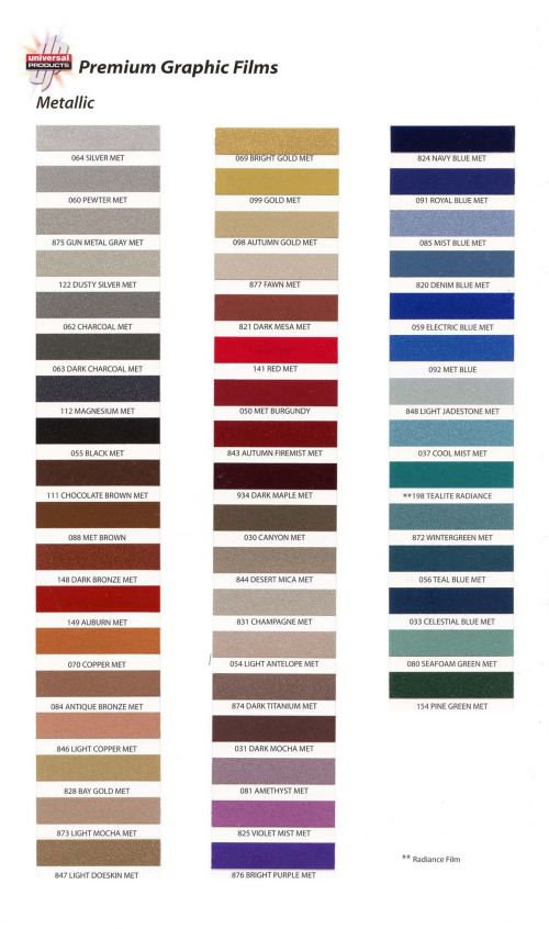 Universal Products Metallic Solid Stripe Pinstripe 1 8 Quot 0102