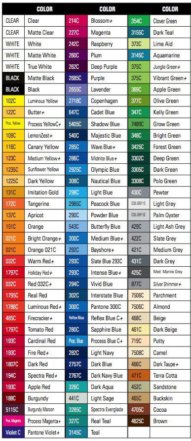 Avery 900 Supercast Colors