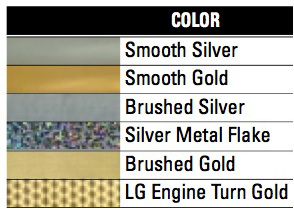Rtape VinylEfx Solvent Printable Decorative and Outdoor Durable Gold And Silver Vinyl